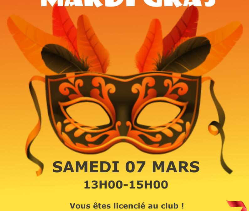 Mardi Gras : venez déguiser !