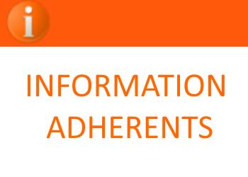 Information adhérents