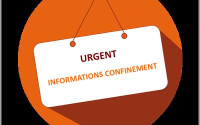 Urgent : informations confinement cours APAC